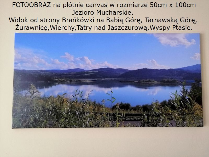 Fotoobraz - na płótnie canvas - 50x100 Jezioro Mucharskie Wadowice - image 1