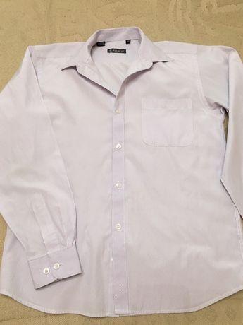 Рубашка белая в полоску р. 158