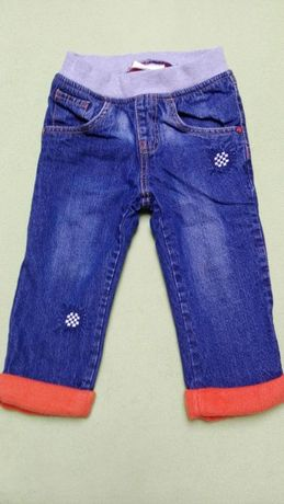 Jeansy podszyte polarem