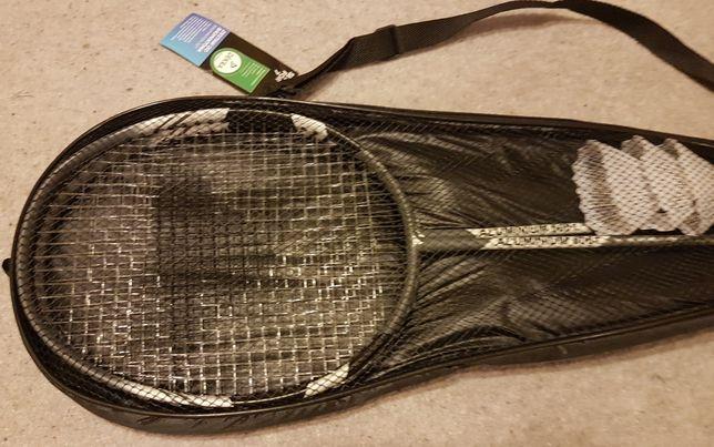 NOWY Zestaw do badmintona 2 lub 4 rakietki ,3 lotki ,pokrowiec ,siatka