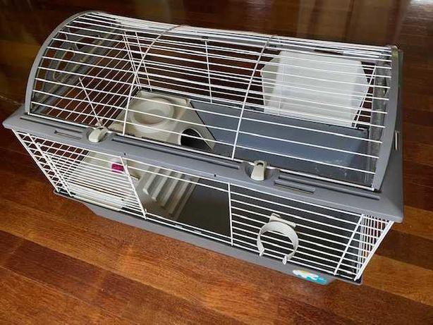 Klatka dla królika, świnki, dla gryzoni, komplet Ferplast, dł. 80 cm