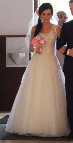 suknia ślubna sincerity 3771 rozmiar 34 36 38 PILNE!