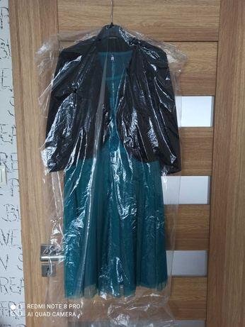 Sukienka turkusowa z bolerkiem