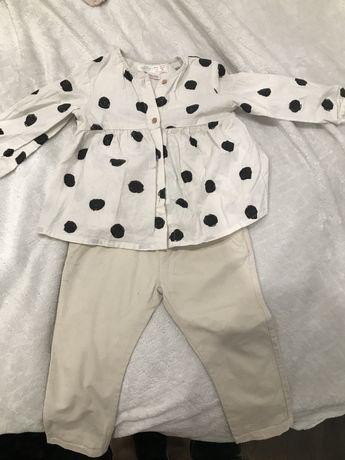 Spodnie chinosy Koszula w kropki