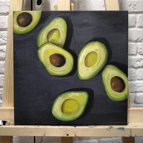 """Интерьерная картина в кухню """"Авокадо"""""""