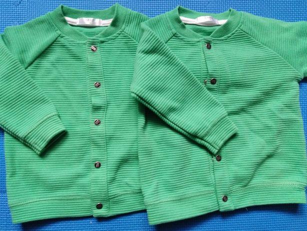 Sweterki roz 74 dla bliźniaczek