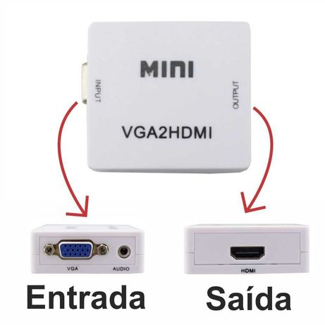 Adaptador VGA-HDMI (VGA para HDMI)