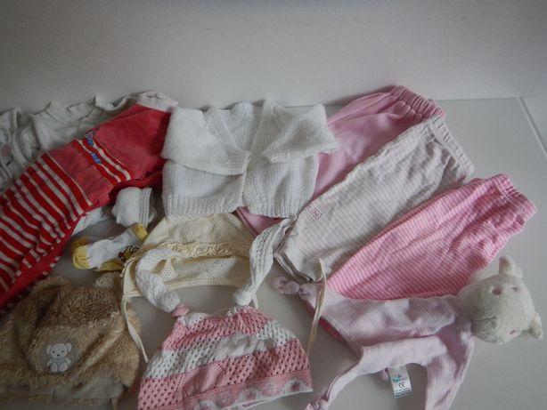 Mega paka zestaw ubranka dla dziewczynki śpioch czapeczka 3-6 mc 68cm