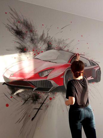 Художественная роспись стен потолка Интерьерная фасадная художник