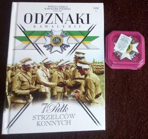 Odznaki Kawalerii tom 1 -7 Pułk Strzelców Konnych książka + odznaka