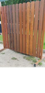 Sztacheta sztachety metalowe - drewnopodobne