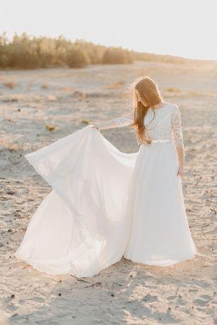 Suknia ślubna Mabell Viola Piekut, ślub cywilny - Boho, rustykalna