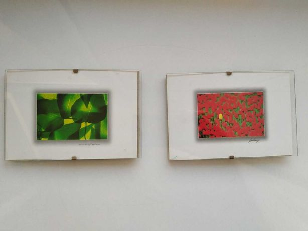 Dwie ramki do zdjęć 14,5 x 10 cm