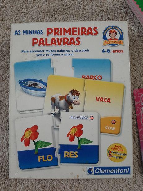 Jogos didáticos palavras Português Inglês