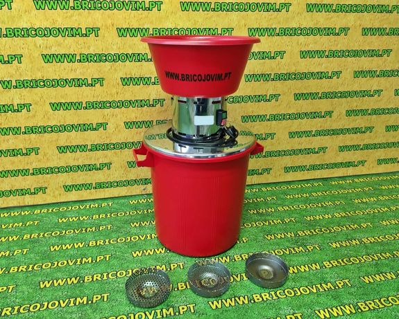 Moinho de Milho /Cereais + 3 Crivos - INOX - Balde 50L -Motor Italiano
