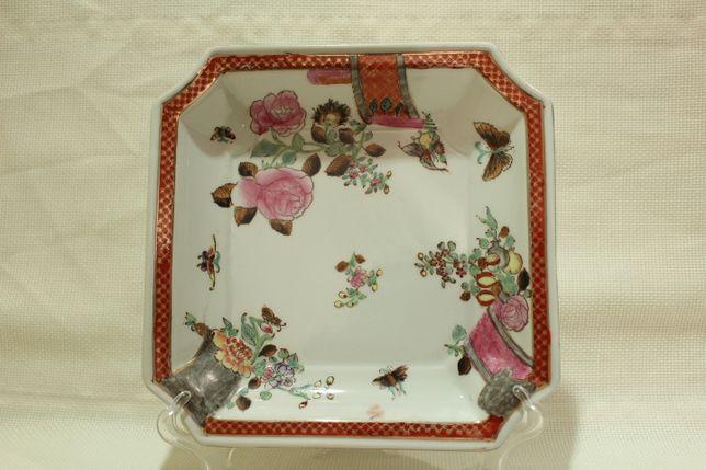 Covilhete Porcelana Chinesa Qianlong XX Família Rosa 20 cm