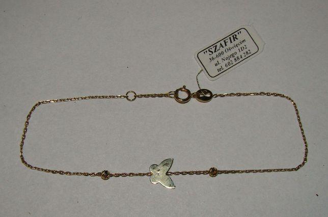 Złota bransoletka 14 karat próby 585-Firma Szafir-Wzór 105