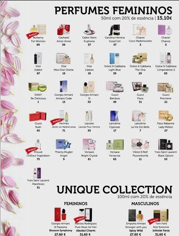 Óleos e fragrâncias de perfumes