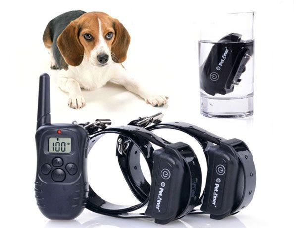 Coleiras Treino Anti-Latido 2 Cães-Dupla (Baterias, Prova Água) (NOVO)