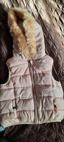 Тёплая жилетка для девочки