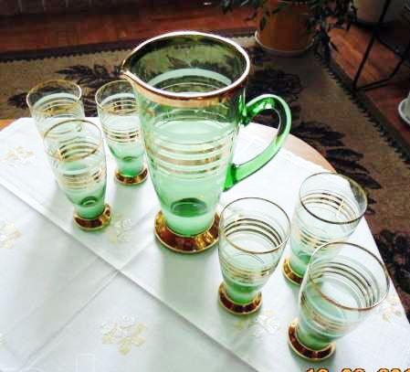 Сервиз кувшин и 6 стаканов, Германия 60-х гг.