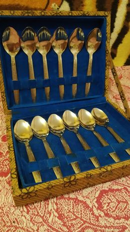 Набор чайных ложек 12штук в коробке СССР