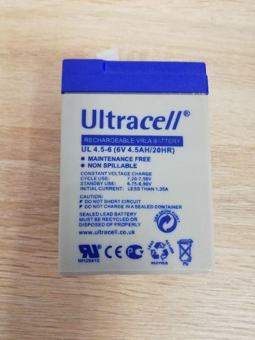 """Akumulator AGM ULTRACELL UL 6V 4.5AH """"żelowy"""" FV 23% Częstochowa - image 1"""