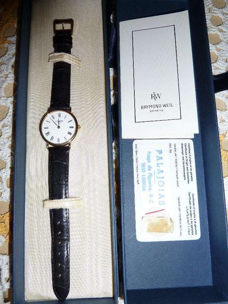 Relógio novo (ouro) Raymond Weil