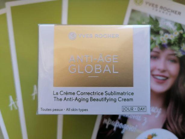 Дневной Крем Anti Age Global Yves Rocher Анти Аж Глобаль Ив Роше