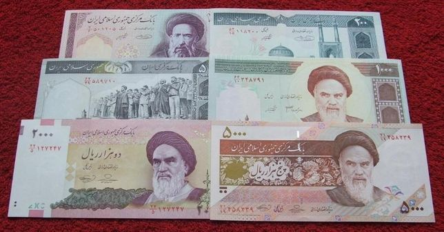 IRAN Kolekcjonerskie Banknoty Zestaw - 6 sztuk UNC