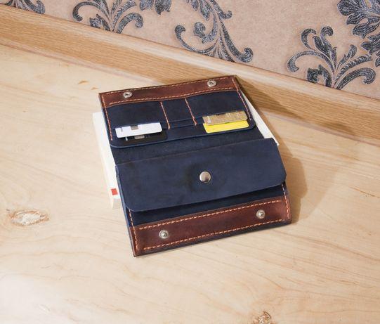 Кошелек портмоне бумажник для денег и документов ручная работа