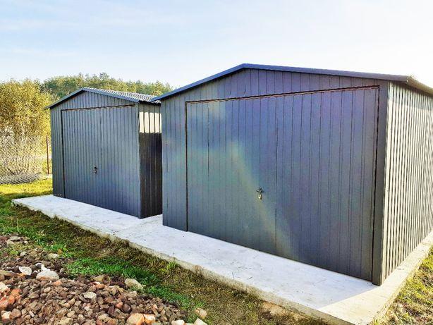 Garaże Blaszane Wzmocniony BLASZAK producent garaży schowki na budowę
