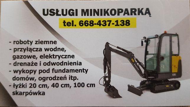 Usługi Minikoparką, Minikoparka, Wykopy, Fundamenty Lubelskie