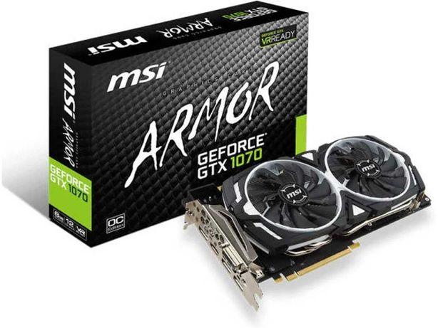 Placa Gráfica MSI GeForce GTX 1070 Armor OC (NVIDIA - 8 GB DDR5)