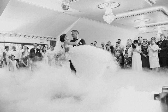 Florystyka ślubna dekoracja kościoła sali weselnej ciężki dym napisy