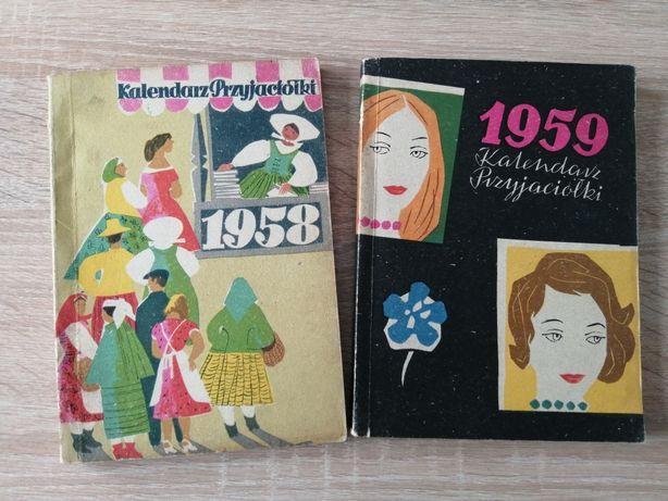 Kalendarz przyjaciółki 1958 i 1959