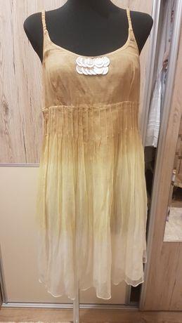 Sukienka letnia na ramiączkach ombre boho rozm. M