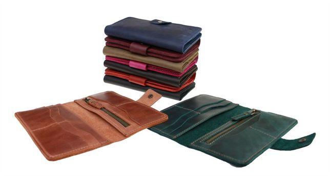 Кожаный мужской женский кошелёк портмоне ручная работа sullivan
