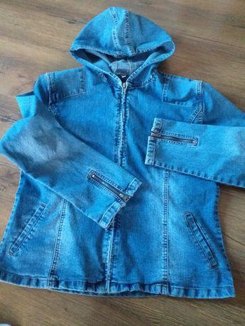 Bluza  jeansowa  z kapturem rozm.L-M