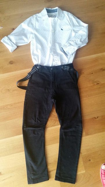 Spodnie z szelkami Kappahl 116 koszula h&m
