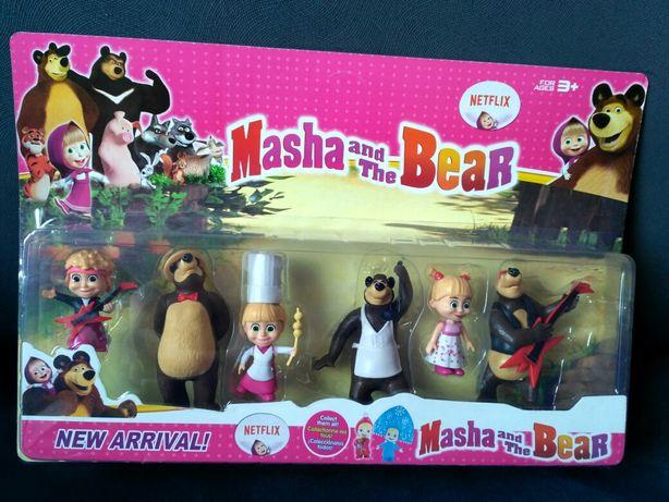 Masza i Niedźwiedź zestaw 6 figurek z bajki- Nowość
