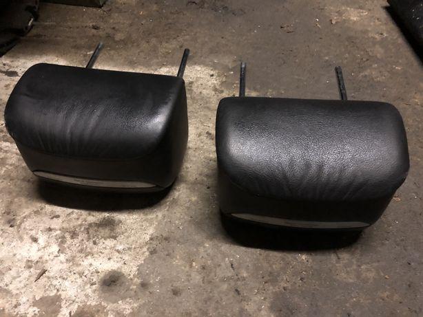 Zaglowki tyl tylnej kanapy bmw e46 cabrio czarne m pakiet