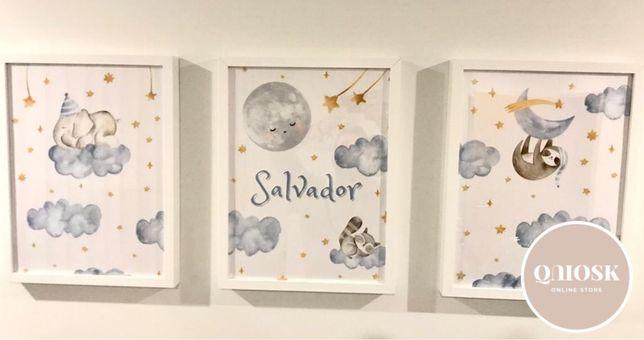 Quadros ou Posteres para Bebes