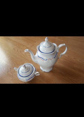 Ceramika Wałbrzych dzbanek i cukiernica