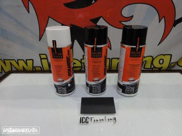Spray reparação e pintura + limpeza + selante Preto Mate bancos de mota