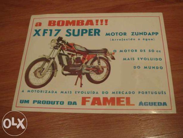 raro prospecto famel xf-17 super - antigo