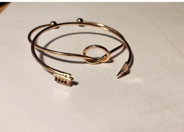 Komplet bransoletki bangle koła złote
