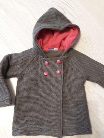 Ciepły sweterek/kurtka dla dziewczynki 86-92
