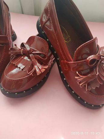 Туфельки мокасины обувь для двойни