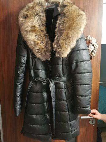 Przepiękna kurtka z futerkiem!!! Stan idealny!